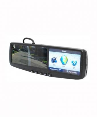 Видеорегистратор, GPS навигатор  в зеркале заднего вида AVIS AVS0490BM