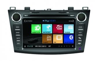 Штатное головное устройство MyDean 3034 Mazda 3 (2009-2013)